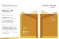 Konzil-Forum 2012-2015 50 Jahre Zweites Vatikanum - Erzbistum Köln