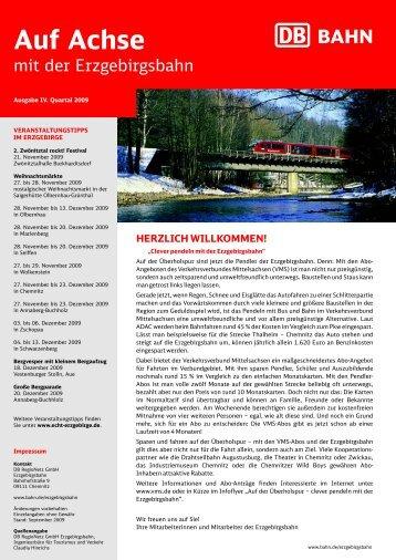 Ausgabe IV. Quartal 2009 (PDF, 2.89MB) - Erzgebirgsbahn