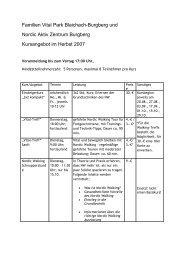 Familien Vital Park Blaichach-Burgberg und Nordic Aktiv Zentrum ...