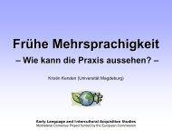 Frühe Mehrsprachigkeit - Wie kann die Praxis ... - ErzieherIn.de