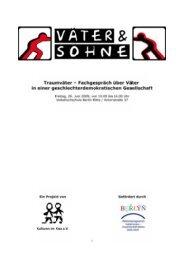 Traumväter – Fachgespräch über Väter - Kulturen im Kiez e.V.