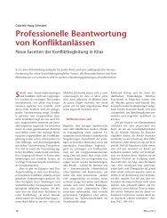 Professionelle Beantwortung von Konfliktanlässen - ErzieherIn.de