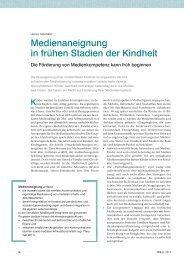 Medienaneignung in frühen Stadien der Kindheit - ErzieherIn.de