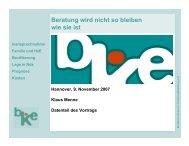 Hannover Vortrag 9.11.07 - Landesarbeitsgemeinschaft für ...
