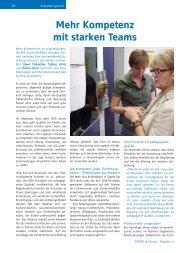 Mehr Kompetenz mit starken Teams - ErzieherIn.de