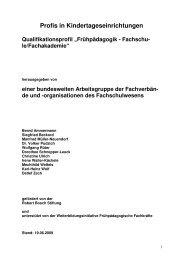 Qualifikationsprofil für die Ausbildung an Fachschulen - ErzieherIn.de