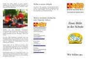 Erste Hilfe in der Schule - ASB Saarland