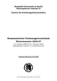 Gesamtverzeichnis - Institut für Erziehungswissenschaften ...