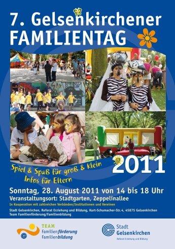 Handzettel Familientag 2011.indd - Stadt Gelsenkirchen, Referat ...