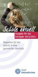 Schule aktuell - Stadt Gelsenkirchen, Referat Erziehung und Bildung