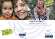 """Broschüre """"Familie und Beruf! Familie als Beruf!"""" - GeKita"""