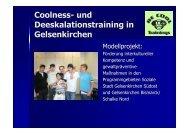 und Deeskalationstraining - Stadt Gelsenkirchen, Referat Erziehung ...