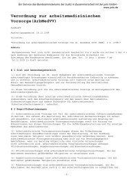 Verordnung zur arbeitsmedizinischen Vorsorge(Arbmedvv)