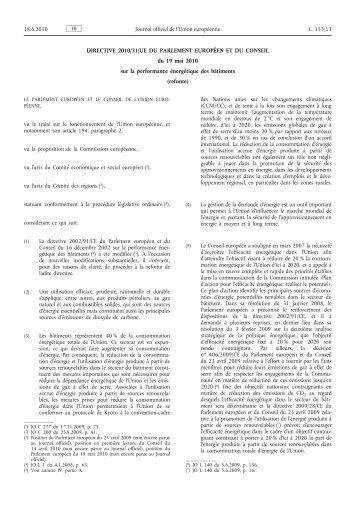Directive 2010/31/UE - EUR-Lex - Europa