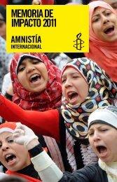 MEMORIA DE IMPACTO 2011 - Amnistía Internacional España