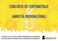CONCURSO DE CORTOMETRAJE AMNISTÍA INTERNACIONAL