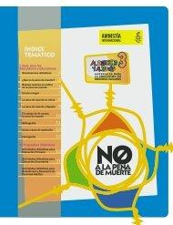 ÍNDICE TEMÁTICO - Amnistía Internacional España - Amnesty ...
