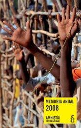 Memoria Anual 2008 - Amnistía Internacional España