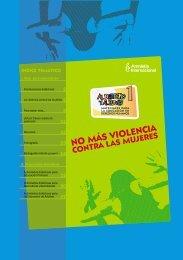 No más violencia contra las mujeres - Amnistía Internacional España