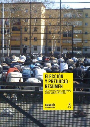Elección y prejuicio - Amnistía Internacional España
