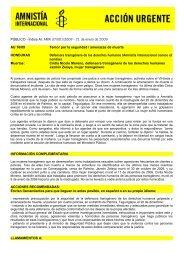 PÚBLICO - Índice AI: AMR 37/001/2009 - 21 de enero de 2009 AU ...