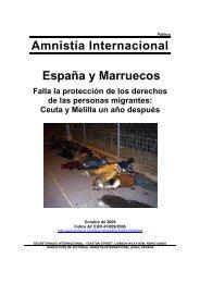 Amnistía Internacional España y Marruecos