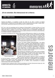 20 de noviembre: Día Internacional de la Infancia - Amnistía ...