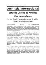 Una causa pendiente - Amnistía Internacional España