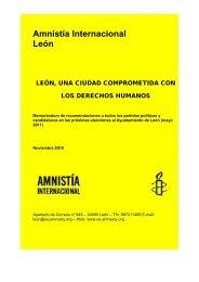 Amnistía Internacional León - Amnistía Internacional España