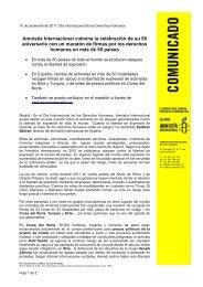 Amnistía Internacional culmina la celebración de su 50 aniversario ...