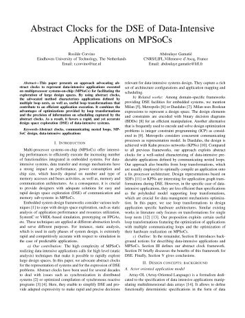 Abstract Clocks for the DSE of Data-Intensive Applications ... - ASAM