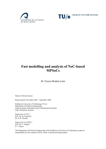 Fast modelling and analysis of NoC-based MPSoCs - Electronic ...