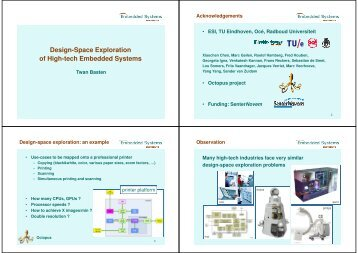 Design-Space Exploration of High-tech Embedded Systems