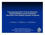 Parameterized Kahn Process Networks: Model Definition and its ...