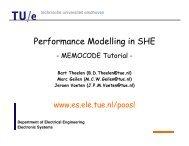 Tutorial MEMOCODE 2007 - Electronic Systems - Technische ...
