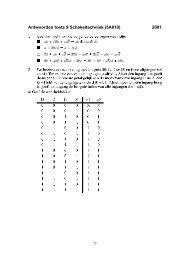 Antwoorden toets 9 Schakeltechniek (5A010) 2001