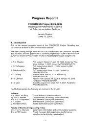 Progress Report II - Technische Universiteit Eindhoven