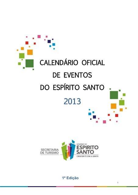 f04f333a44 calendário oficial de eventos do espírito santo - Governo do Estado ...