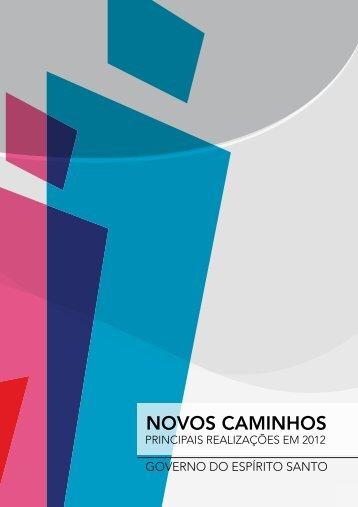 NOVOS CAMINHOS - Governo do Estado do Espírito Santo