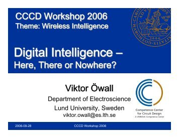 Digital Intelligence - Lund Institute of Technology - LTH