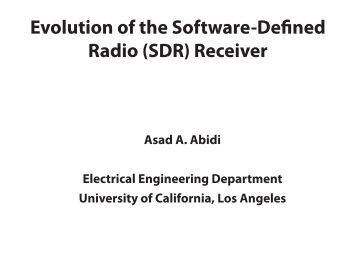 Software defined radio master thesis