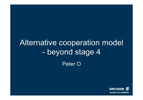Alternative cooperation model - beyond stage 4