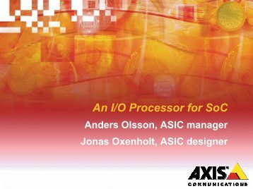 Invited Talk: An IO Processor for System-on-Chip