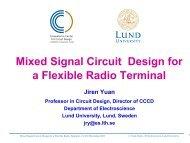 Mixed Signal Circuit Design for a Flexible Radio Terminal