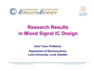Research Results in Mixed Signal IC Design