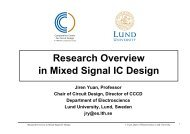 Research Overview in Mixed Signal IC Design