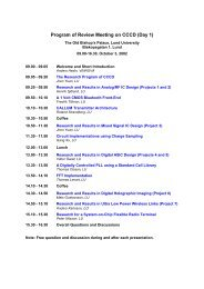 Program of Review Meeting on CCCD (Day 1)