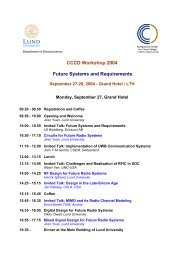 CCCD Workshop 2004 Future Systems and Requirements