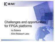 Invited Talk: Advanced FPGA Design