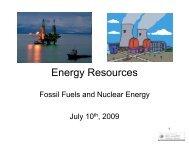 Energy Resources: Non-renewable
